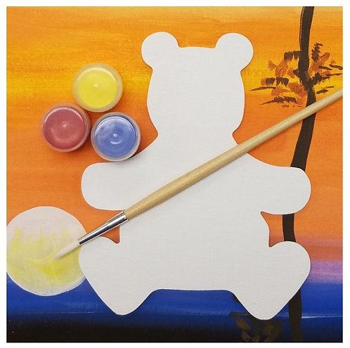Shaped Canvas Painting Kit - Bear