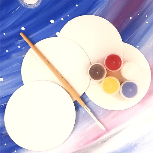 Canvas Coaster Painting Kit