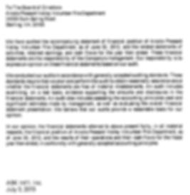 FY 2012 Audit Letter