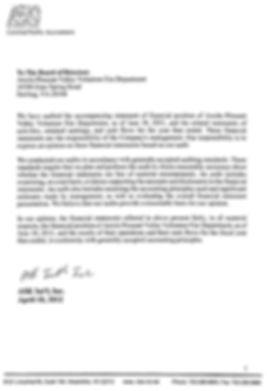 FY 2011 Audit Letter