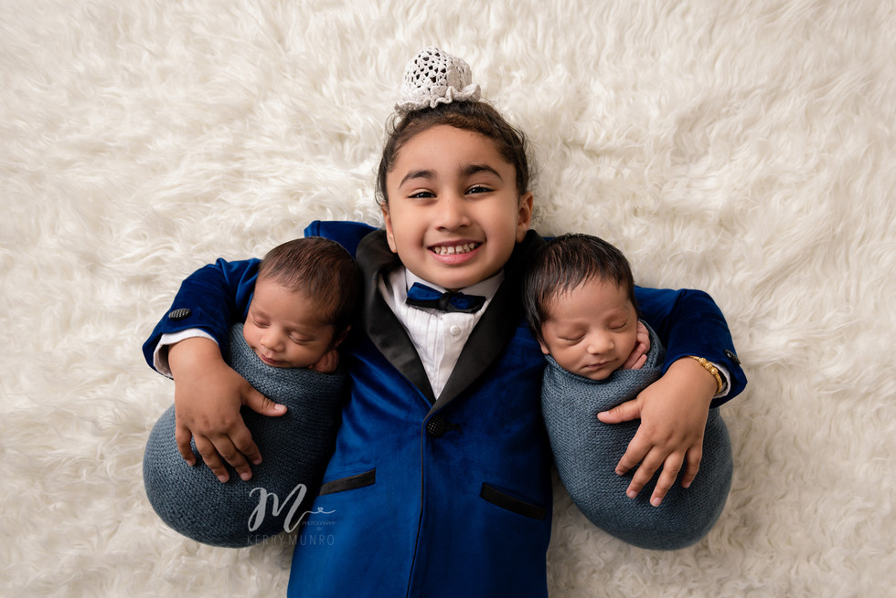 Newborn Session - Twin Baby Boys