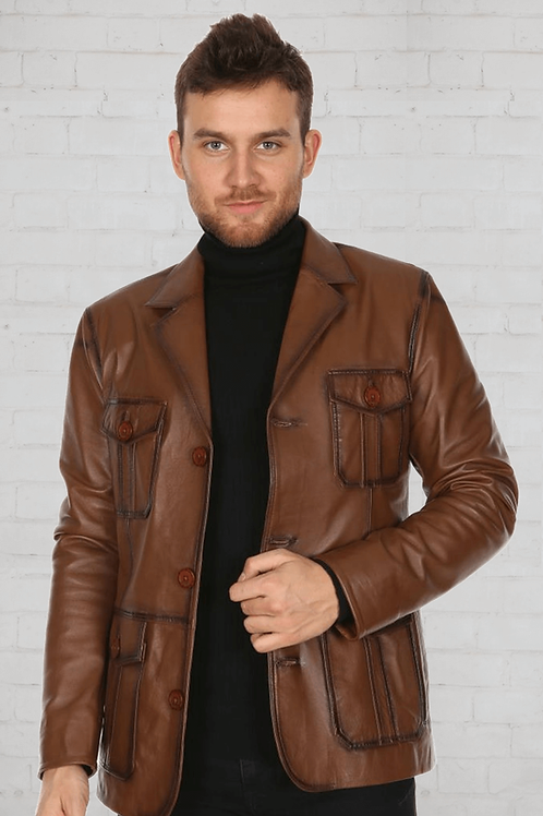 кожаный пиджак мужской