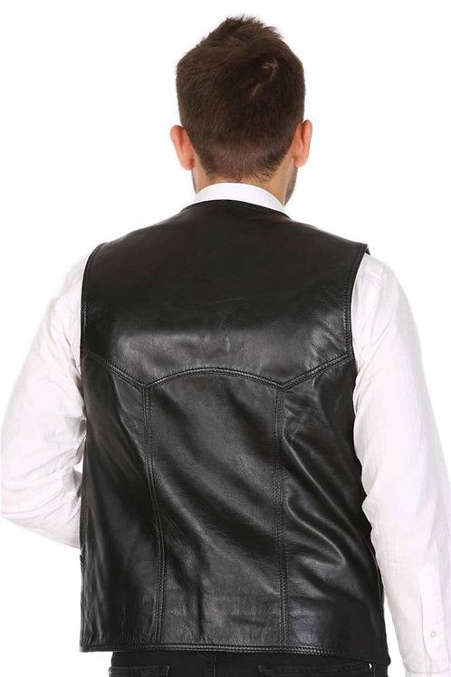 кожаный жилет мужской