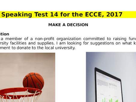 ECCE Speaking Past Paper Καλή προετοιμασία στα προφορικά του lower michigan!!