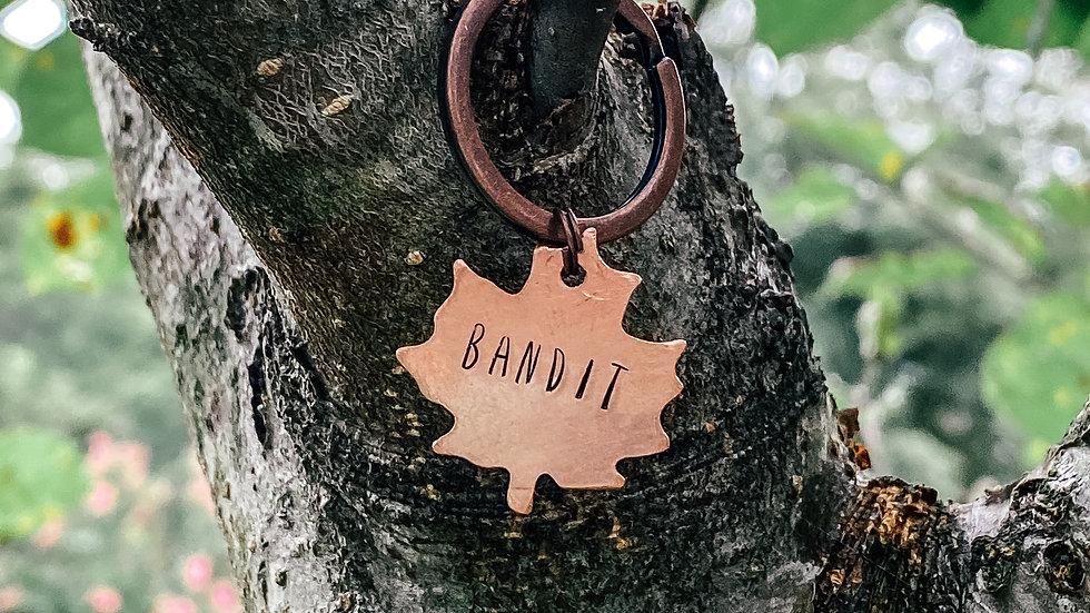 Maple Leaf Pet ID Tag