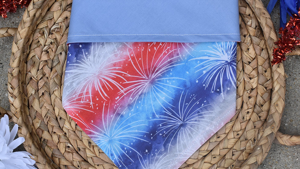 Red, White and OOH, FIREWORKS Reversible Bandana