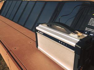 ポータブル・ソーラーパネルを導入