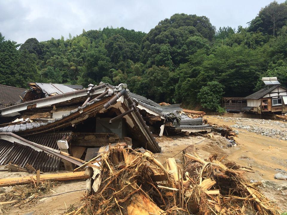 2017年九州北部豪雨の現場