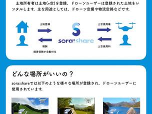 sora:shareのリアルチラシ完成