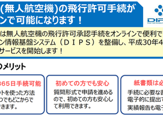 ドローン飛行許可手続、オンライン化へ