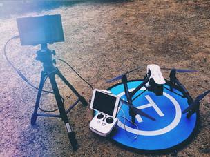 ドローンとライブ映像配信技術