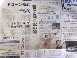 日経産業新聞一面に掲載されました!