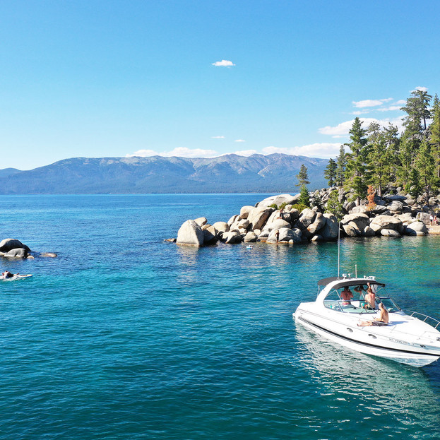 Taking in the views from Sand Harbor.