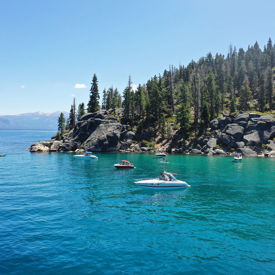 The crystal clear waters of Whiskey Cove.