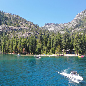 Accessing the boat-in camp ground in Emerald Bay.