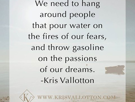 Great statement by Kris Vallotton