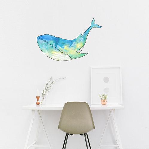 Wall Art - Whale Sticker #1