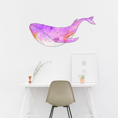 Wall Art - Whale Sticker #4