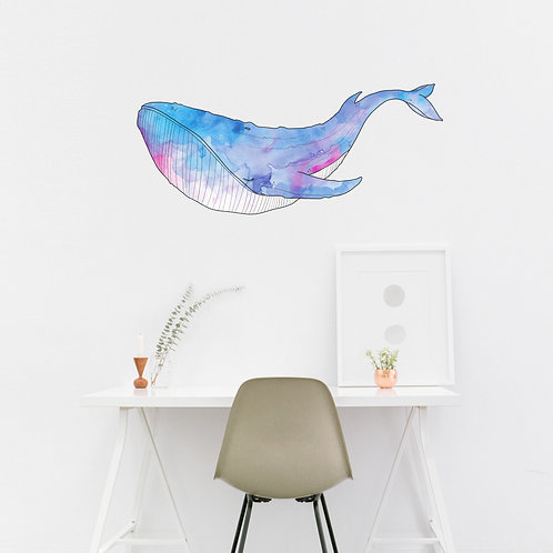 Wall Art - Whale Sticker #5