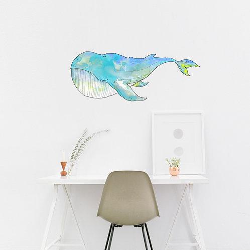 Wall Art - Whale Sticker #3