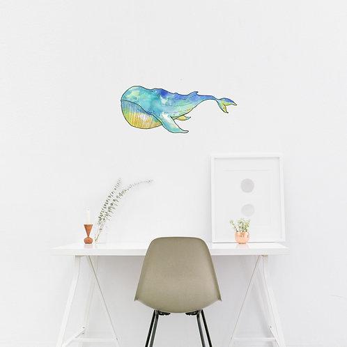 Wall Art - Small Whale Sticker #2