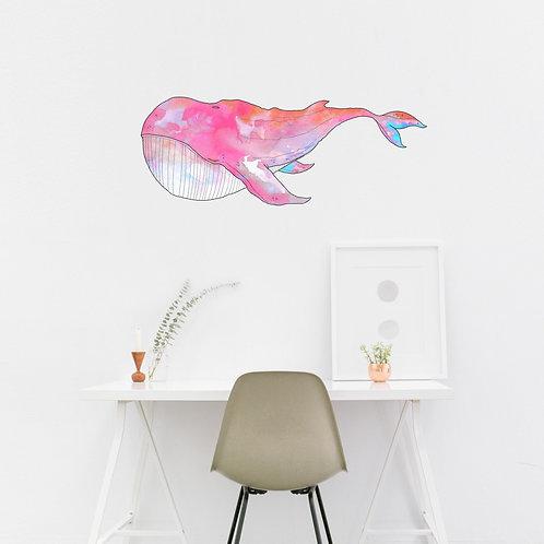 Wall Art - Whale Sticker #2