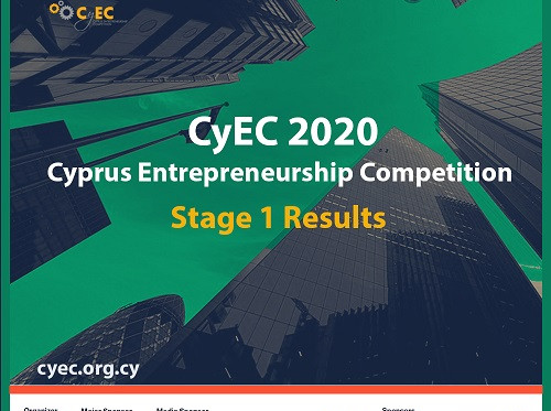 Cyprus Entrepreneurship Competition 2020 announces Stage 1 Results
