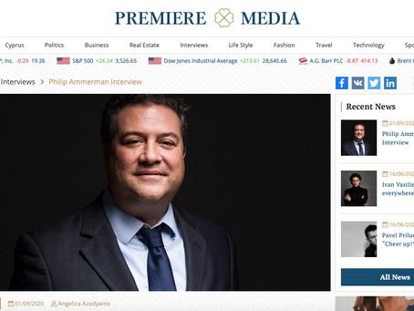 Philip Ammerman interviewed in Premiere Magazine, Cyprus