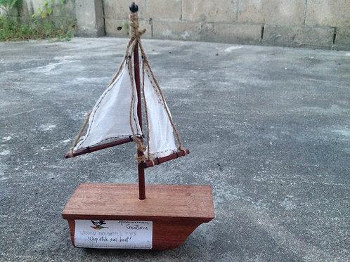 """Chop sticks Sail Boat"""