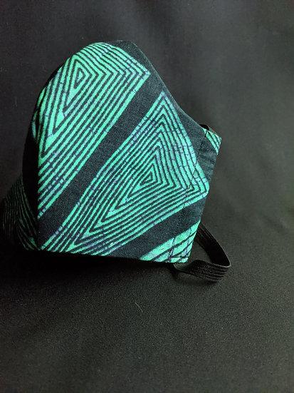 Teal Geo Stirpe JorLani Face Mask