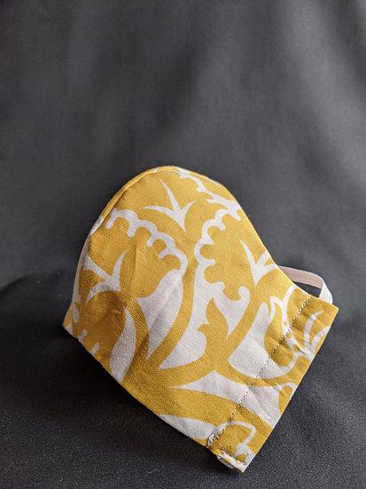 Yellow Floral JorLani Face Mask