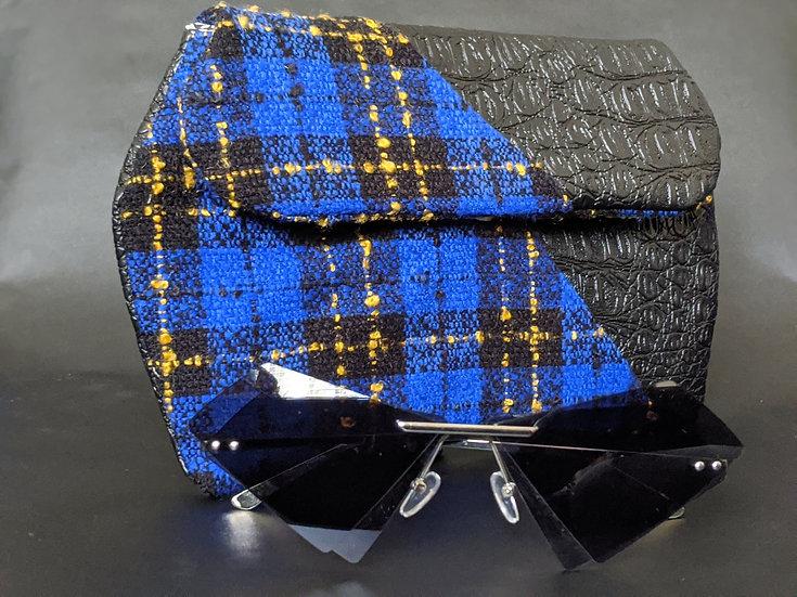Royal Blue & Alligator Dileyas Waist Bag
