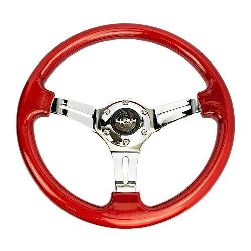 Illinium Flux Woodgrain Steering Wheel
