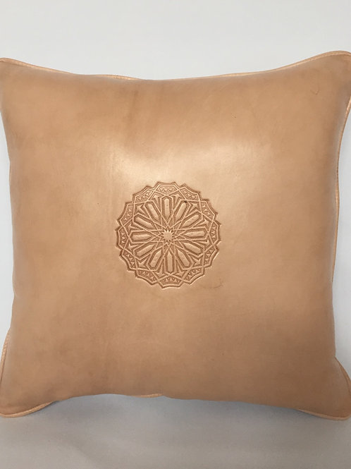 Leather Square Cushion Cover in Arabic (CAD210)