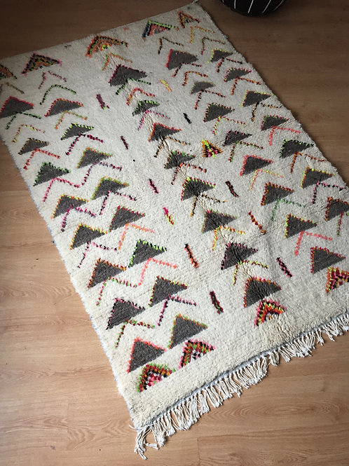 Colorful Handwoven Azilal Rug, pure Wool (012AZ18)