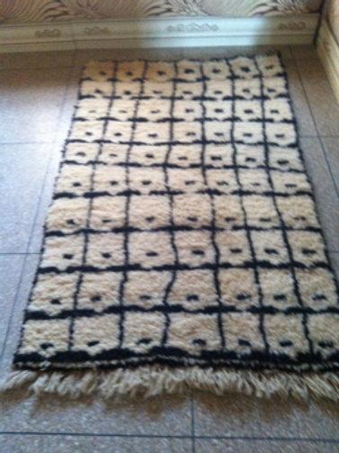 Moroccan Genuine 100% Wool Beni Ourain Rug Karrou