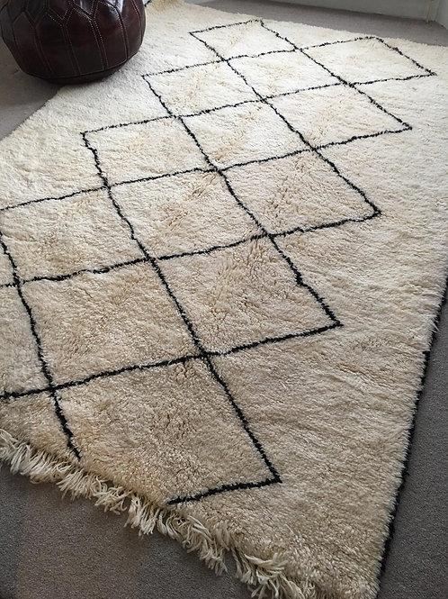 Moroccan Genuine 100% Wool Beni Ourain Rug (BO48)