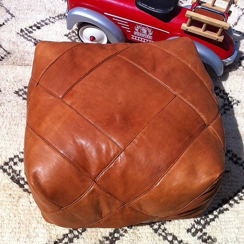 Hand Stitched Square Pouffe, luxe design (JL120)