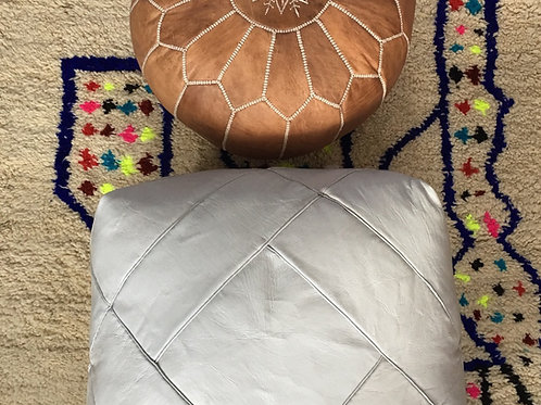 Hand Stitched Square Pouffe, luxe design (JL123)