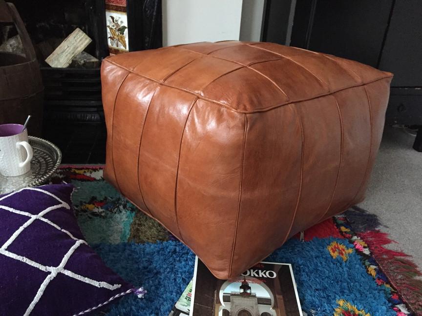 Leather Floor cushion