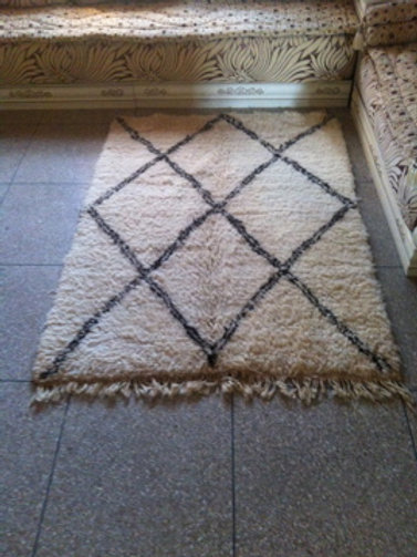 Moroccan Genuine 100% Wool Beni Ourain Rug Lux-01