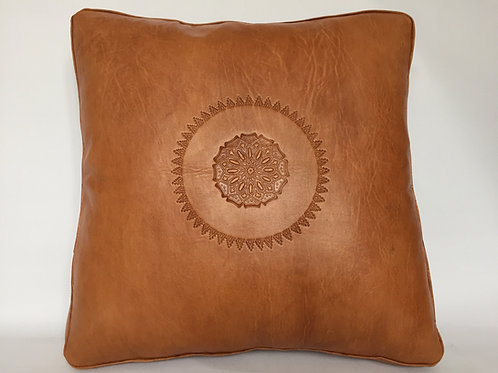 Leather Square Cushion Cover in Arabic (CAD220)