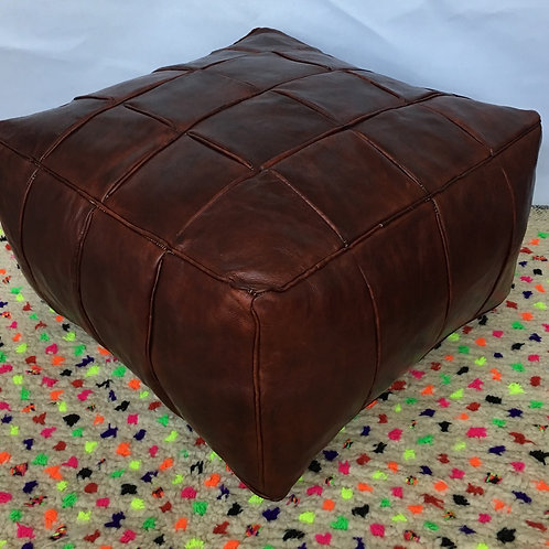 XXL Tally Square design Leather Pouffe (TD133)