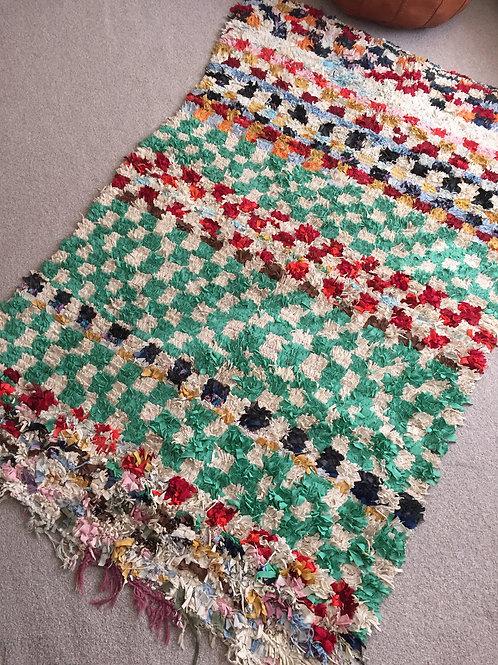 Moroccan Colorful Boucherouite Rug
