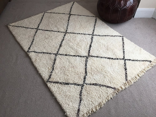Moroccan Genuine 100% Wool Beni Ourain Rug (BO42)