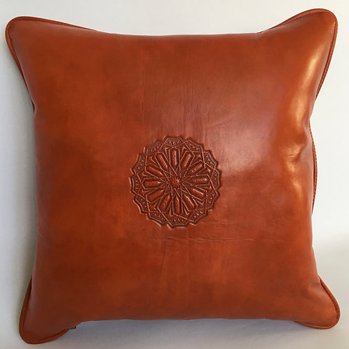 Leather Square Cushion Cover in Arabic (CAD217)