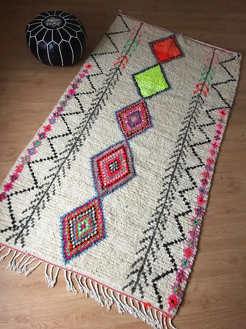 Colorful Handwoven Azilal Rug, pure Wool (011AZ18)