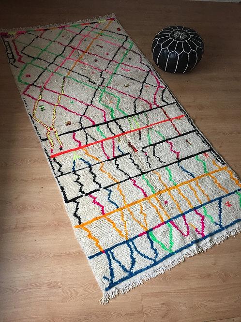 Colorful Handwoven Azilal Rug, pure Wool (002AZ18)