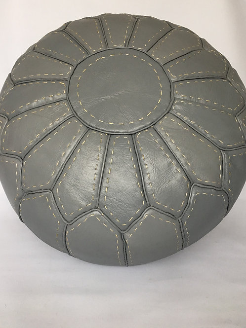 Handcrafted Contemporary Leather Pouffe (RP203)