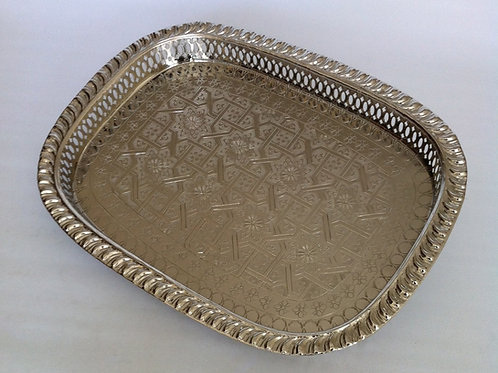 Elegant hand hammered Serving Tray